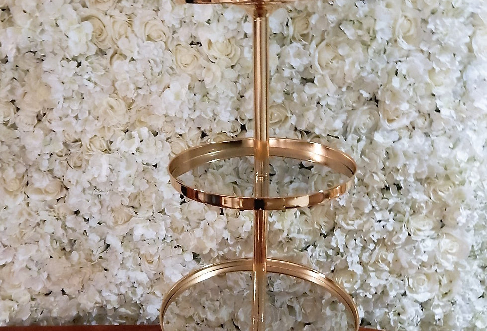 3 Tier metal gold cake stand