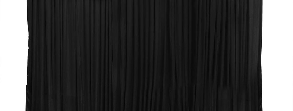 Black Satin / Silk Backdrop with or without swag  6M by 3m