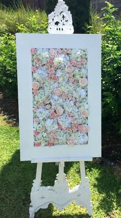 Easel with flower shadow box