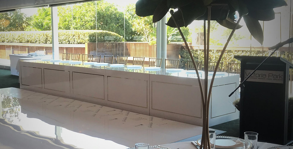 White Gloss Bridal Table