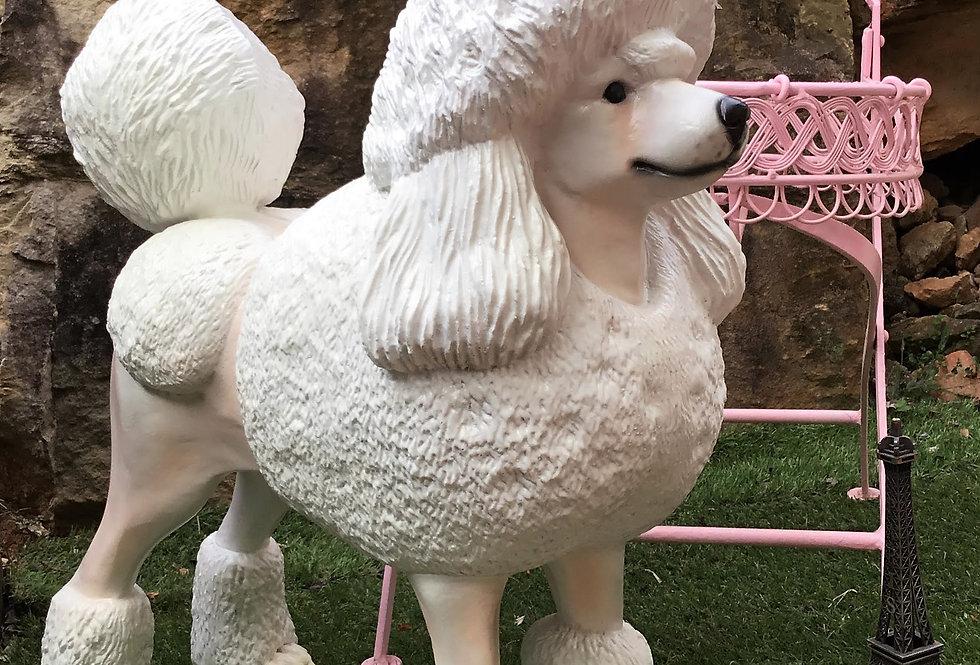 White Poodle Statue