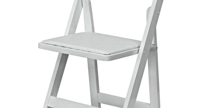 Americana White Folding Chair