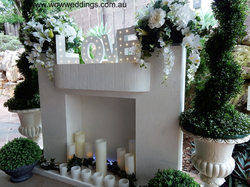 Fireplace Mantel wedding hire