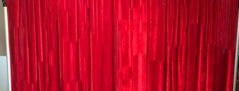 Red Velvet Backdrop 2m by 5m