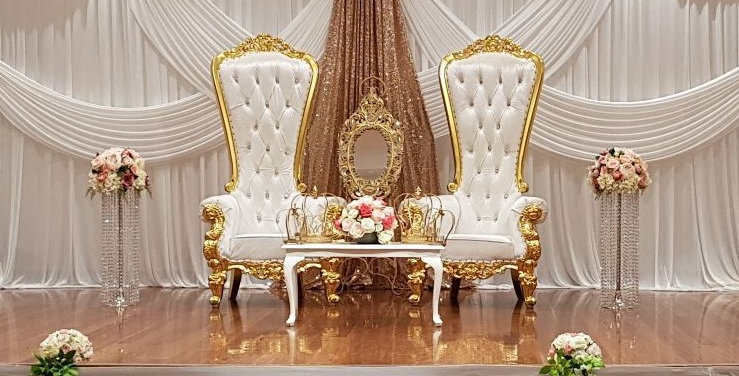 Wedding Stage Package With Gold Insert