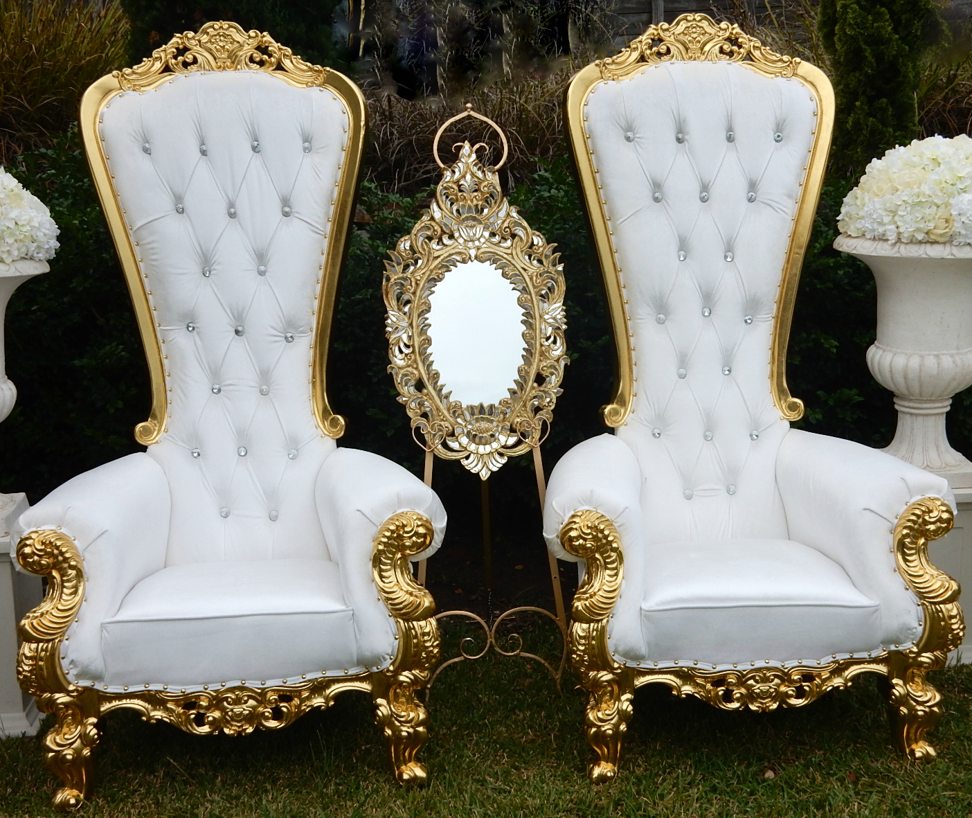Mr  Mrs Throne chair