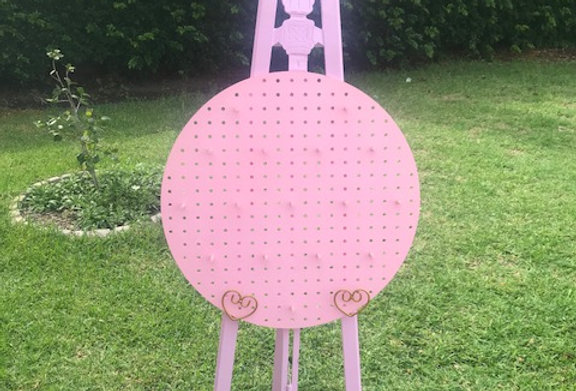 Pink Doughnut Wall with Easel