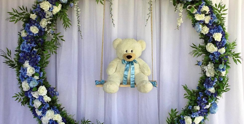Teddy Bear  Arch Blue
