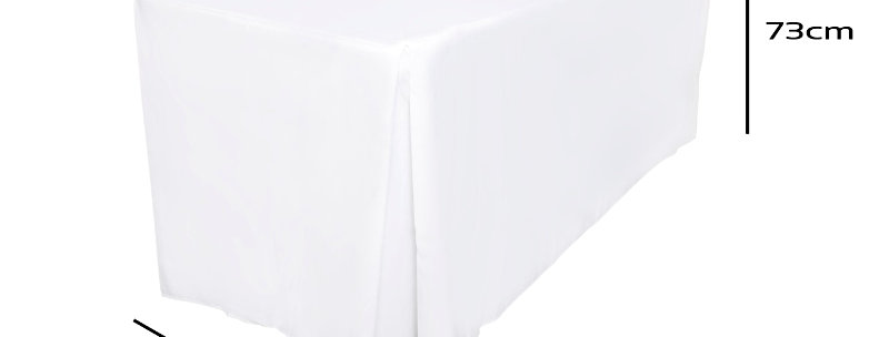 Fitted  Rectangle White Tablecloth