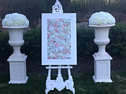Easel w pedestal and urn with Easel