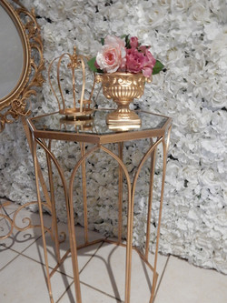 gold octagon side table