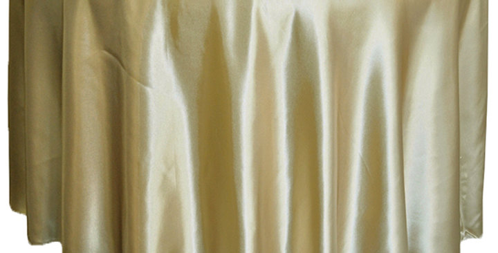 Satin Table Cloth 305 cm Round - Champagne