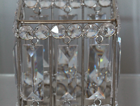 Square crystal candle holder Jess