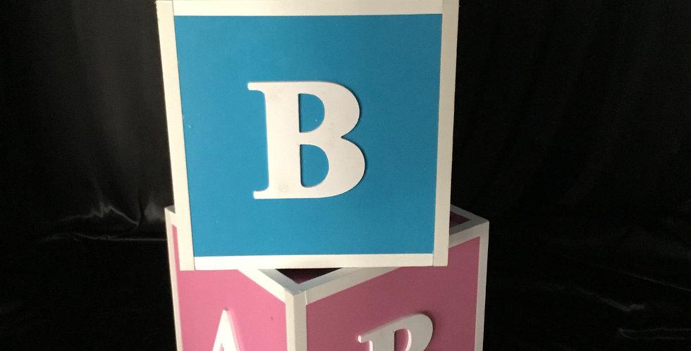 A B C Blue or Pink Blocks