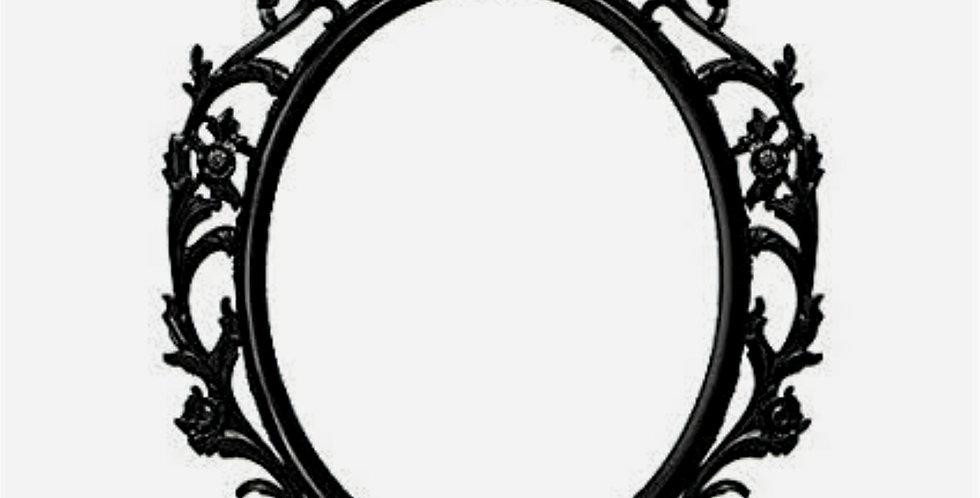 Black  FrameMirror/ picture frame