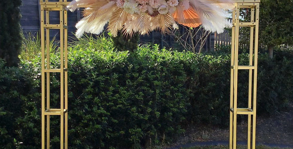 Gold Arbour with Pampas Grass Arrangement