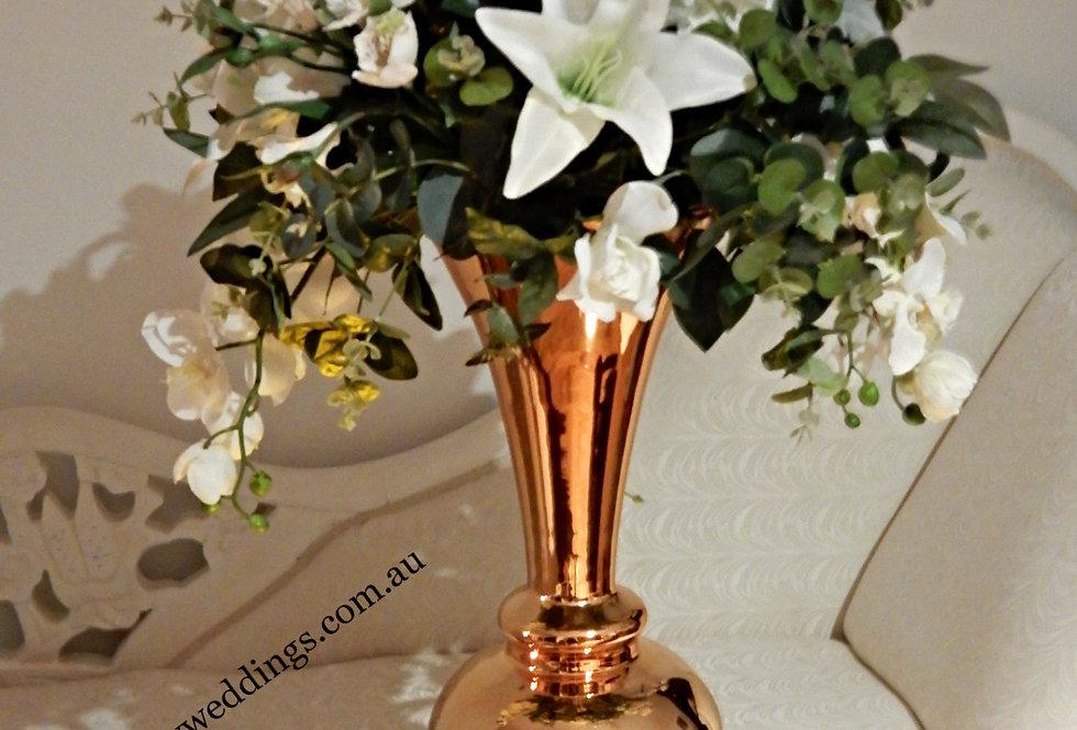 Reversible Trumphet Vase with floral Grace