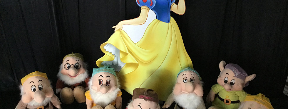 Giant Snow White Cut Out and 7 Dwarfs