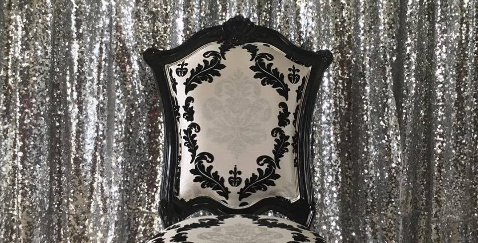 Silver Sequin Photo booth Backdrop  3 by 3 m