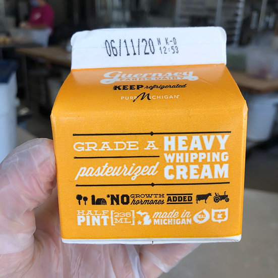 Heavy cream - 1/2 pint
