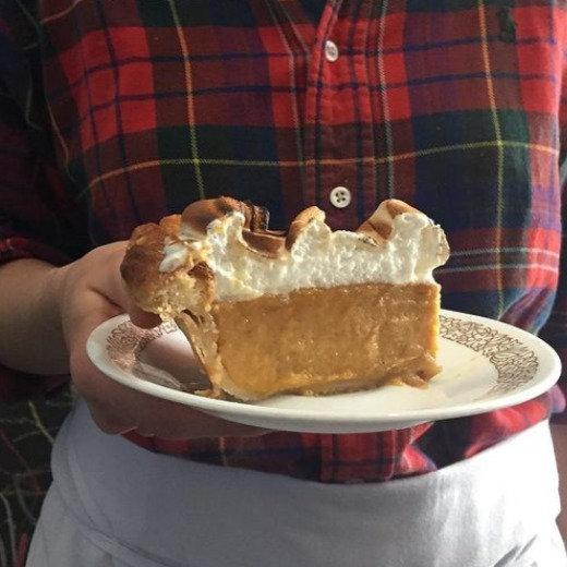 Sweet Potato Marshmallow Pie Slice