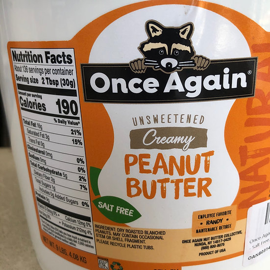 Peanut butter, Smooth - 1 pint