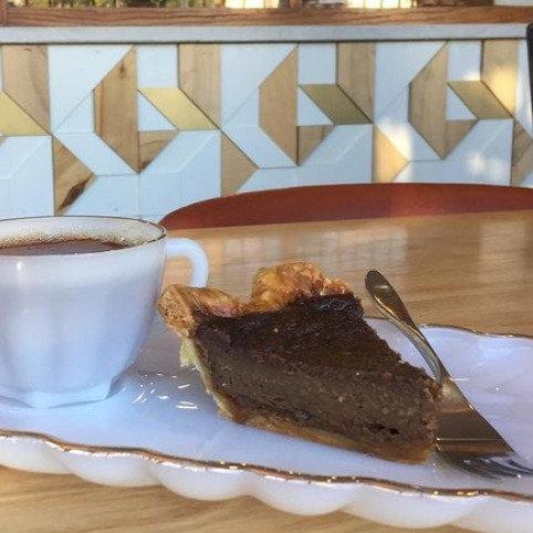 Coffee Chess Pie Slice