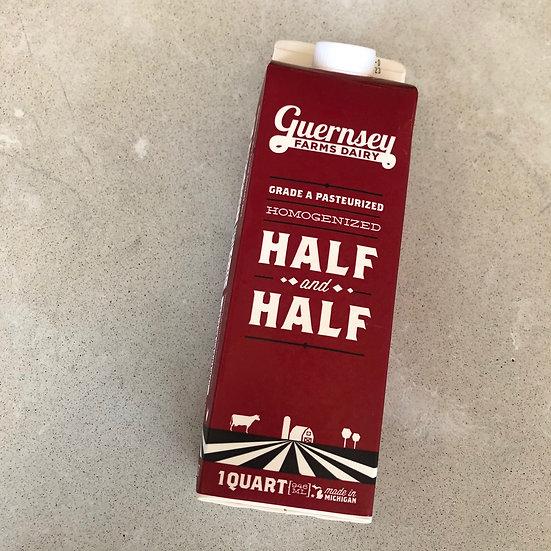 Half + half - 1 quart