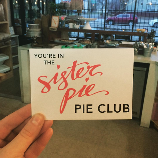 Pie Club Membership