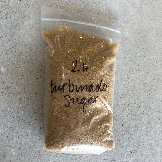 Sugar, Turbinado (vegan) - 2 lb