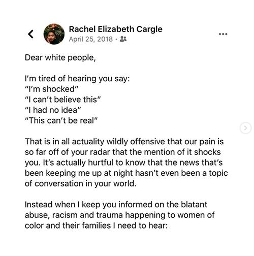 Rachel Elizabeth Cargle | @rachel.cargle