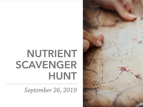 Nutrient Scavenger Hunt | Fall 2019