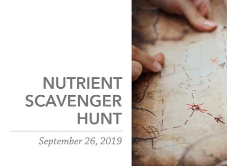 Nutrient Scavenger Hunt   Fall 2019