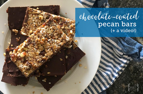 Chocolate-Coated Pecan Bars