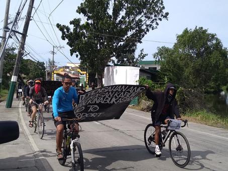 Critical Mass Bike Ride Protest Against Bulacan Aerotropolis Project December 1, 2019 No to Bulacan