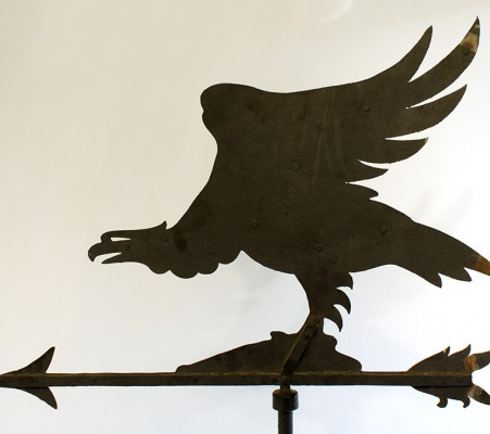 Vintage Hand Crafted Iron Eagle Weathervane