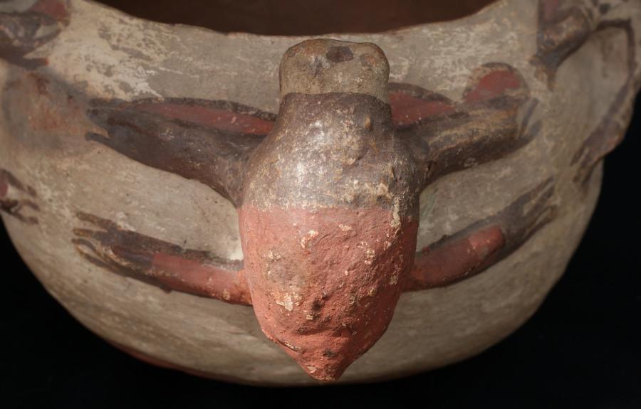 Zuni Pueblo Frog Effigy Pot Circa 1890's Artist Unknown