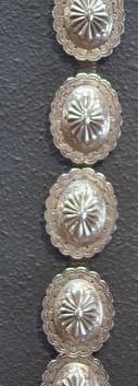Vintage Sterling Silver 2nd Phase Concho Belt Attr to Roger Skeet Sr.
