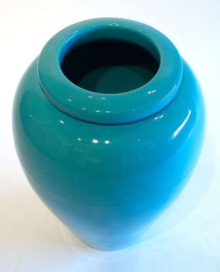Bauer Pottery #129 Turquoise Oil Jar