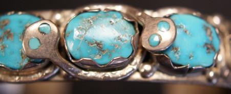 1970 Effie Calavaza Zuni Pueblo Stamped Bracelet Effie Calavaza 1928