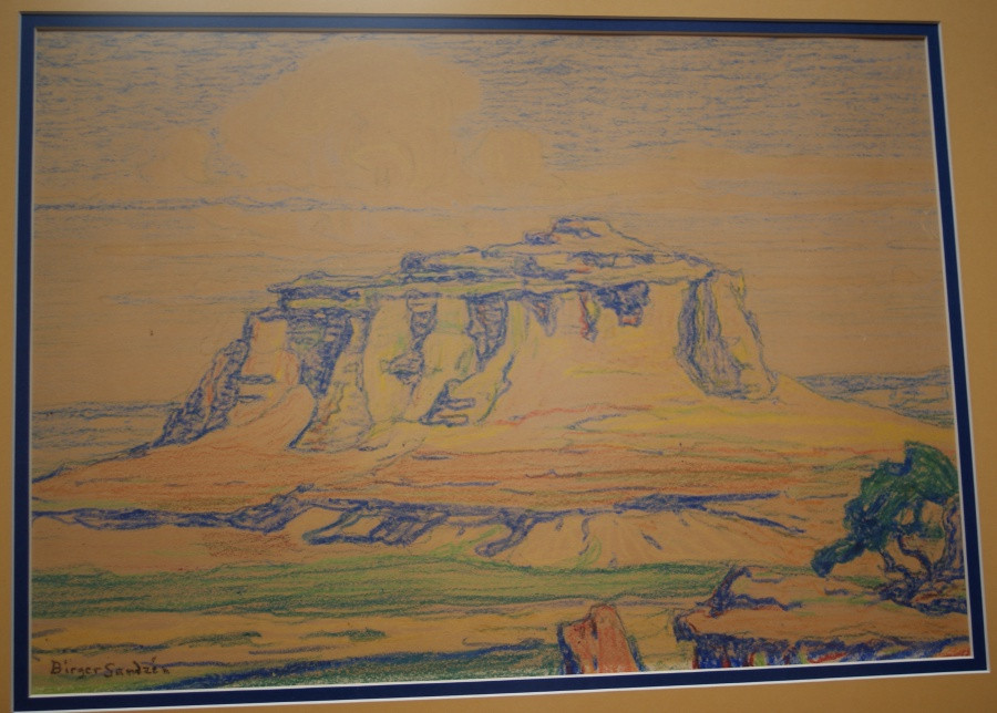 Sven Birger Sandzen 1871-1954 Crayon on Paper