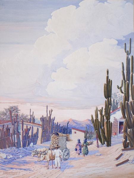 """""""Pueblo De Mitla"""" H. Arden Edwards"""