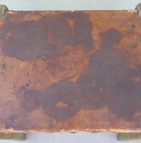 Monterey Spanish Green Leather Top Vanity Bench