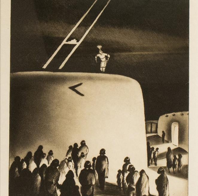 """Eve of the Green Corn Ceremony"" Gene Kloss (1903 - 1996) ""Eve of the Green Corn Ceremony"""