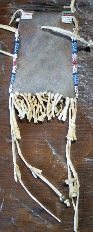 Arapaho Indian Beaded Hide Strike-A-Lite Bag
