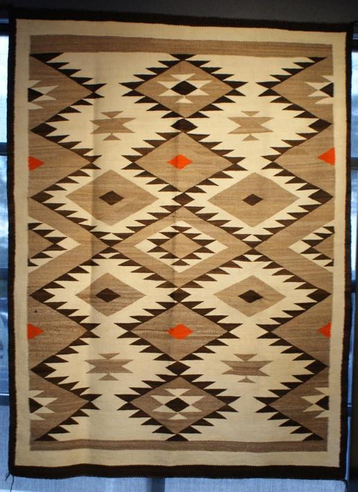 Circa 1920's Crystal Navajo Rug