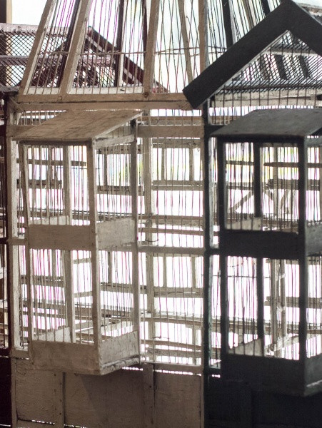 Folk Art Canary Breeding Cage