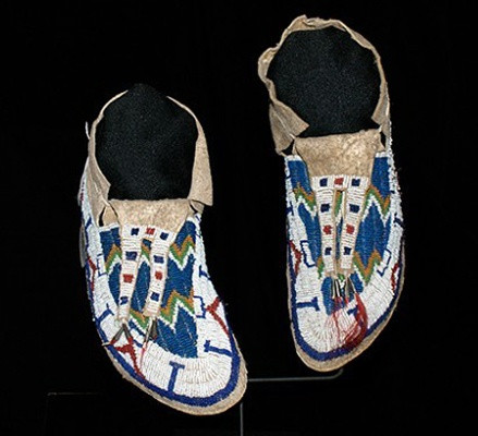 Sioux Man's Moccasins 1880's