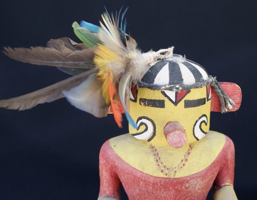 Hopi Pueblo Muzribi Katsina Kachina Cottonwood Doll Circa 1940's Artist Unknown