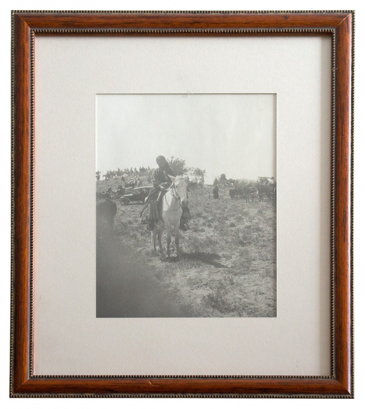 Photograph of an American Indian Woman on Horseback
